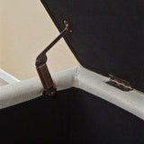 817056010316 Sandford Cloth Storage Ottoman Hinge View