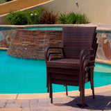 817056012013 Ferndale Outdoor Wicker Chairs (Set of 4) Stacked View