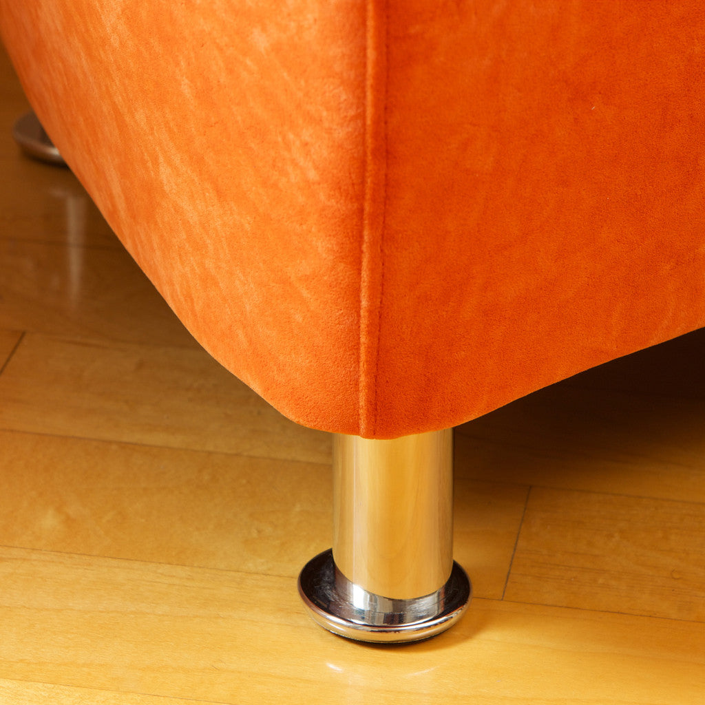 817056013942 Salazar Orange Microfiber Chair Foot Detail View