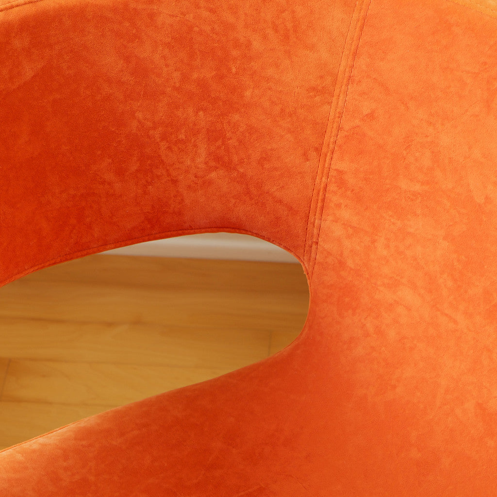 817056013942 Salazar Orange Microfiber Chair Microfiber Detail