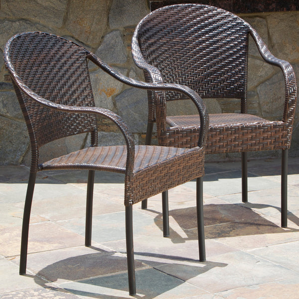 Rancho Outdoor Wicker Chair (Set of 2)