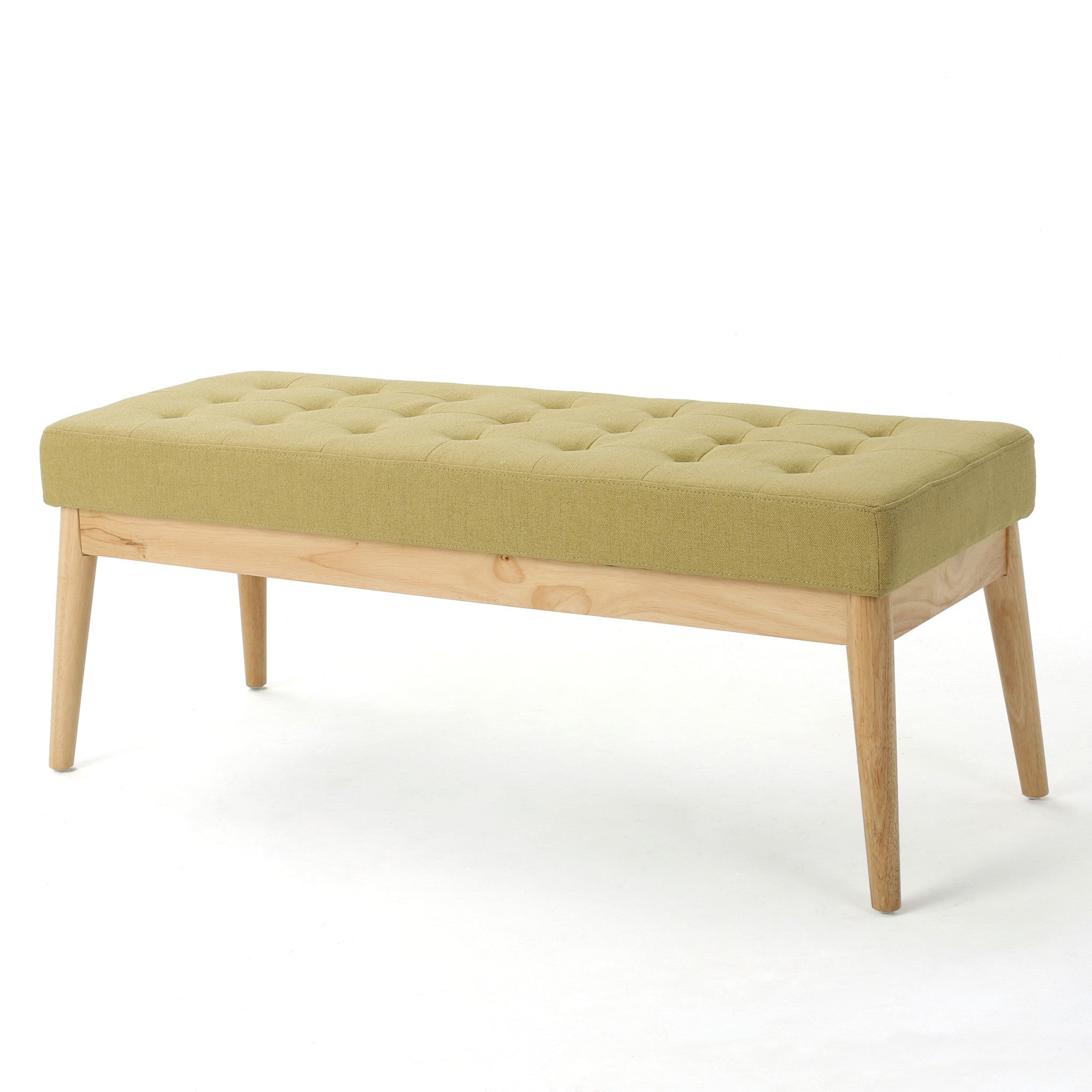 Anglo Modern Mid Century Fabric Bench Air Force Blue