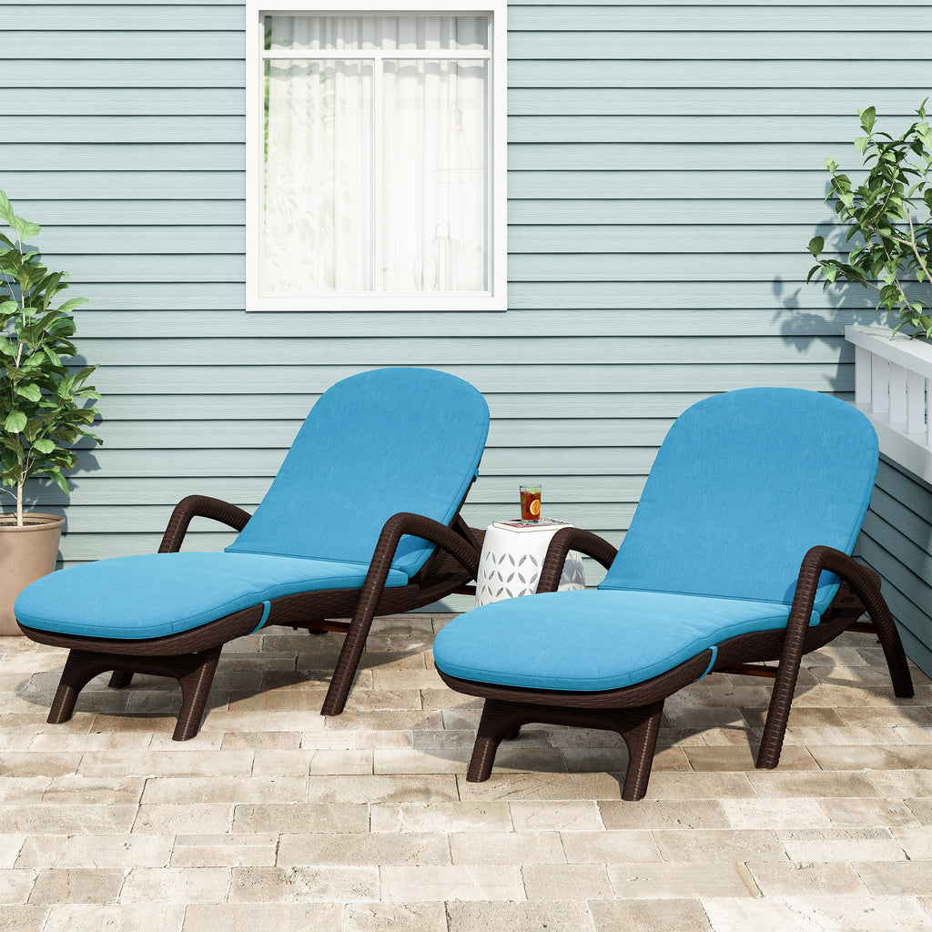 Farirra Outdoor Water Resistant Chaise Lounge Cushions (Set of 2)