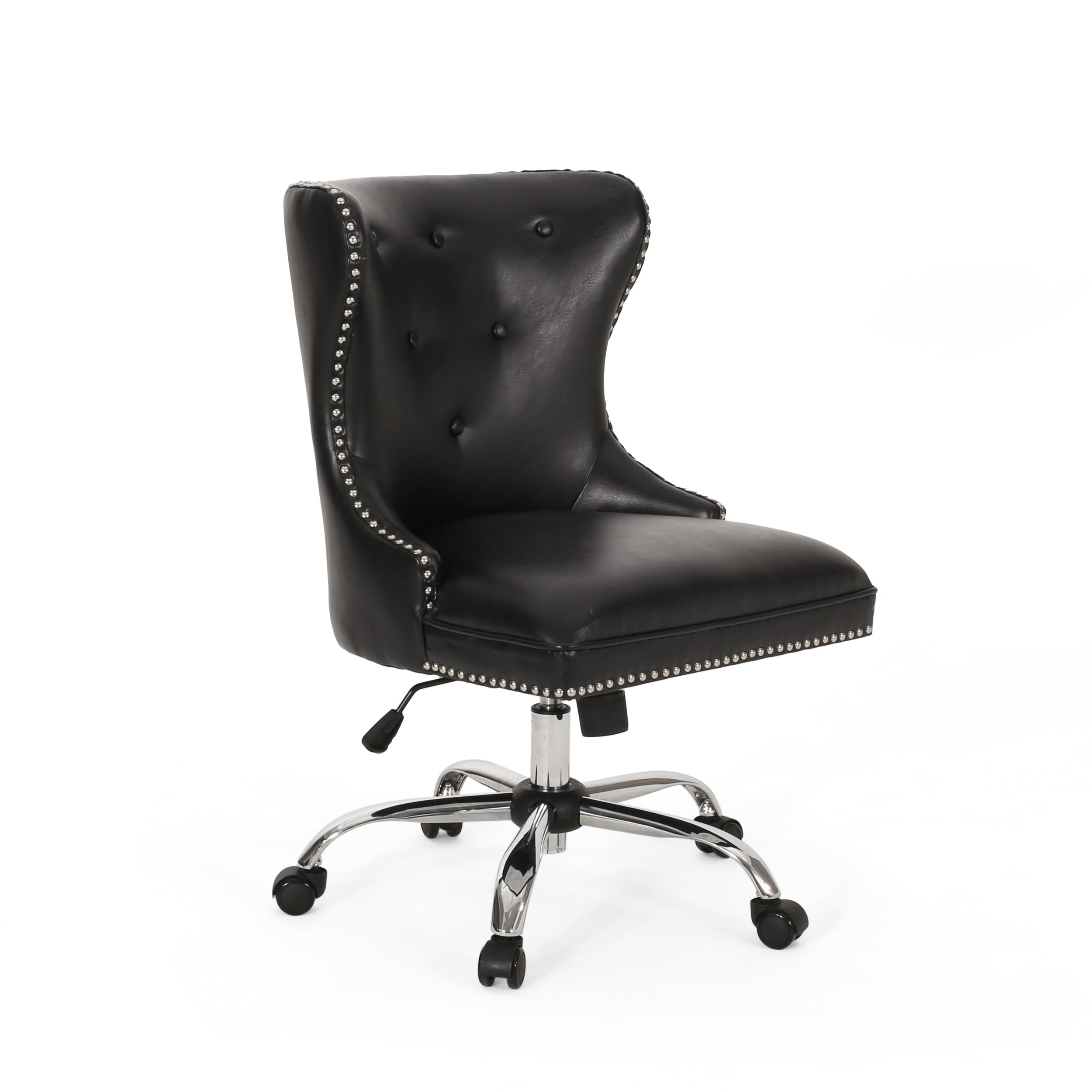 Abagail Contemporary Tufted Swivel Office Chair Midnight