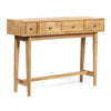 Lithonia Warthen Boho Handcrafted 4 Drawer Console Table, Natural