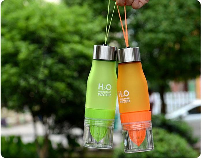 Fruit Infuser Water Bottle - 2 Pack - shopaholicsonlyco