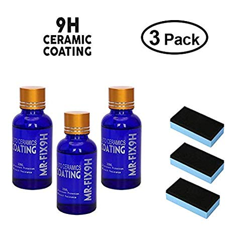 9H Mr. Fix Hydrophobic Car Coating Bundle of 3 - shopaholicsonlyco