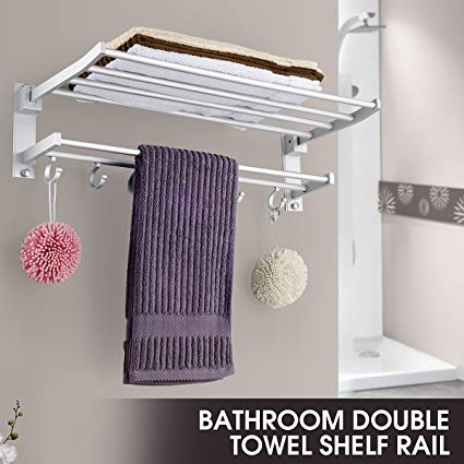 2 Layers Towel Rack Holder - shopaholicsonlyco