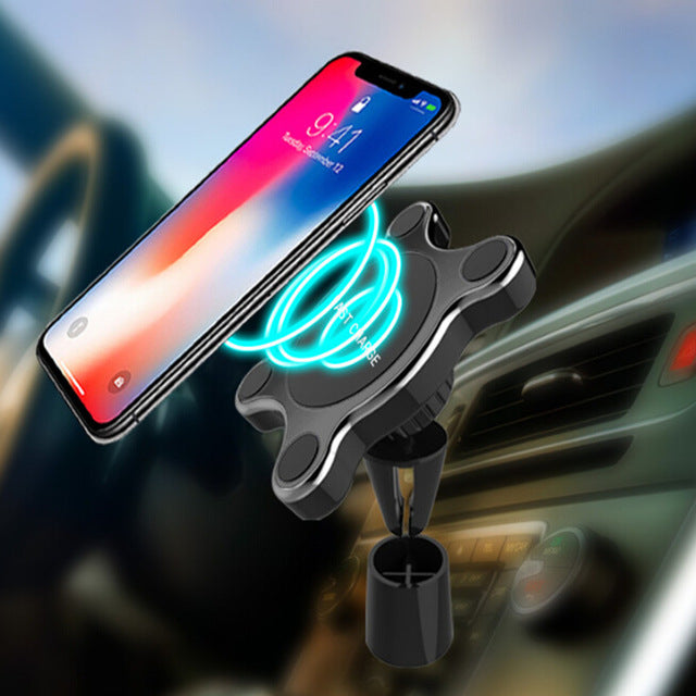 Wireless Magnetic Car Mount Charger - shopaholicsonlyco