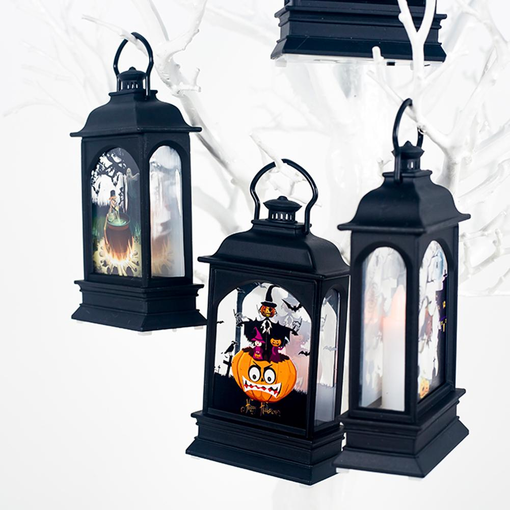 Halloween Vintage Pumpkin Castle Light Lamp - shopaholicsonlyco