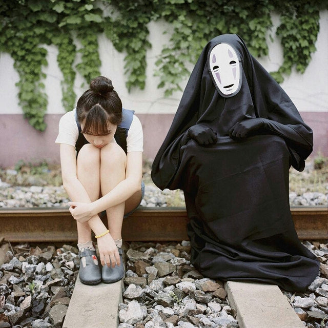 No Face Man Spirited Away Cosplay Costume - shopaholicsonlyco