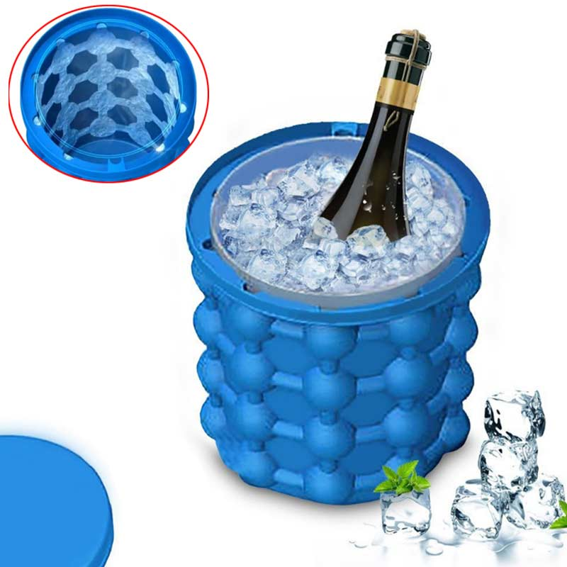 Silicone Ice Cube Maker Bucket - shopaholicsonlyco