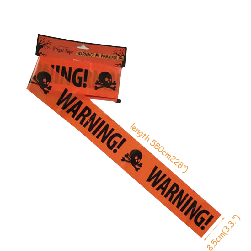 580CM WARNING Tape Halloween Party Decoration - shopaholicsonlyco
