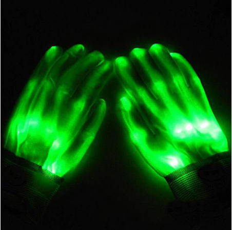 Halloween Led Glowing Gloves - shopaholicsonlyco
