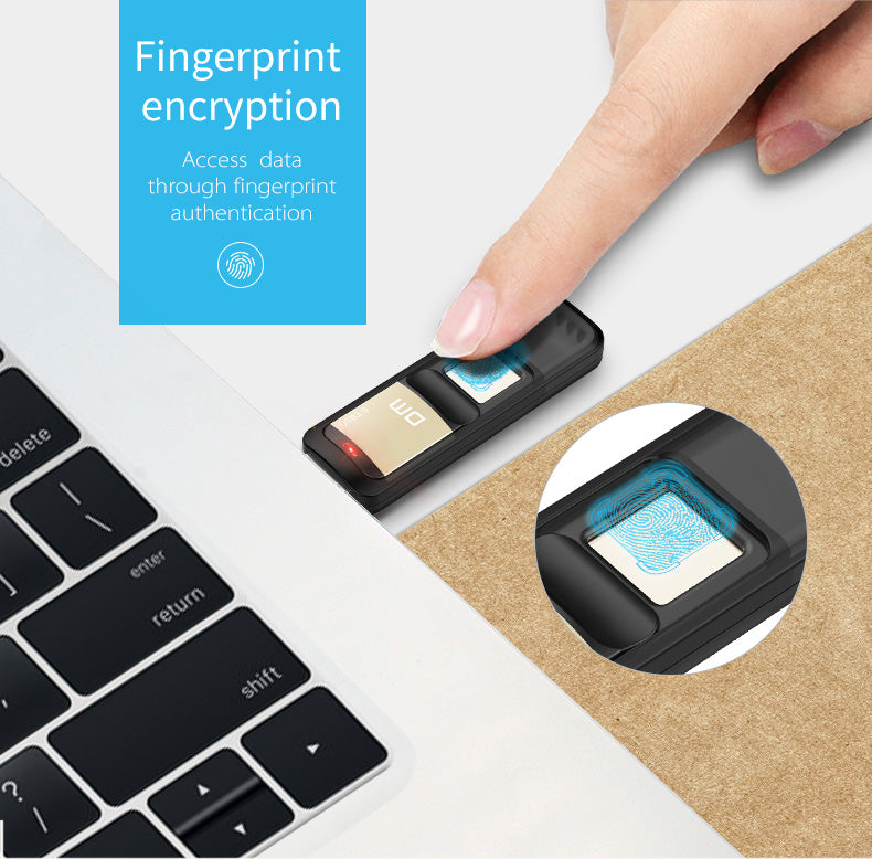 Flash Drive with Fingerprint Encryption - shopaholicsonlyco