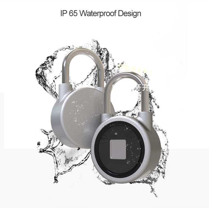 Fingerprint Bluetooth Anti Theft Padlock for IOS Android - shopaholicsonlyco
