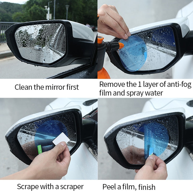 Rainproof Anti Fog Car Rearview Mirror Stickers - shopaholicsonlyco
