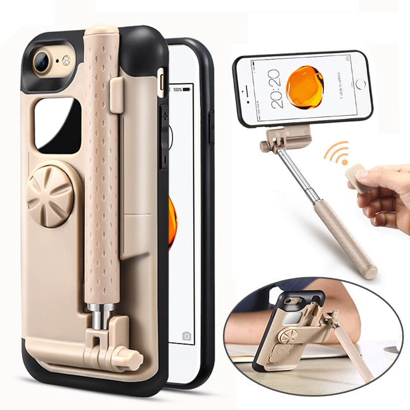 Portable Selfie Stick Phone Case - shopaholicsonlyco