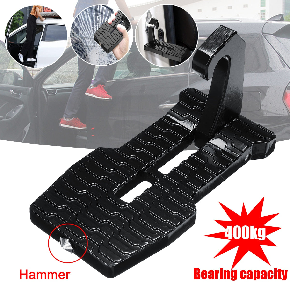 2 In 1 Safety Window Breaker + Car Doorstep - ShopDeals365.com