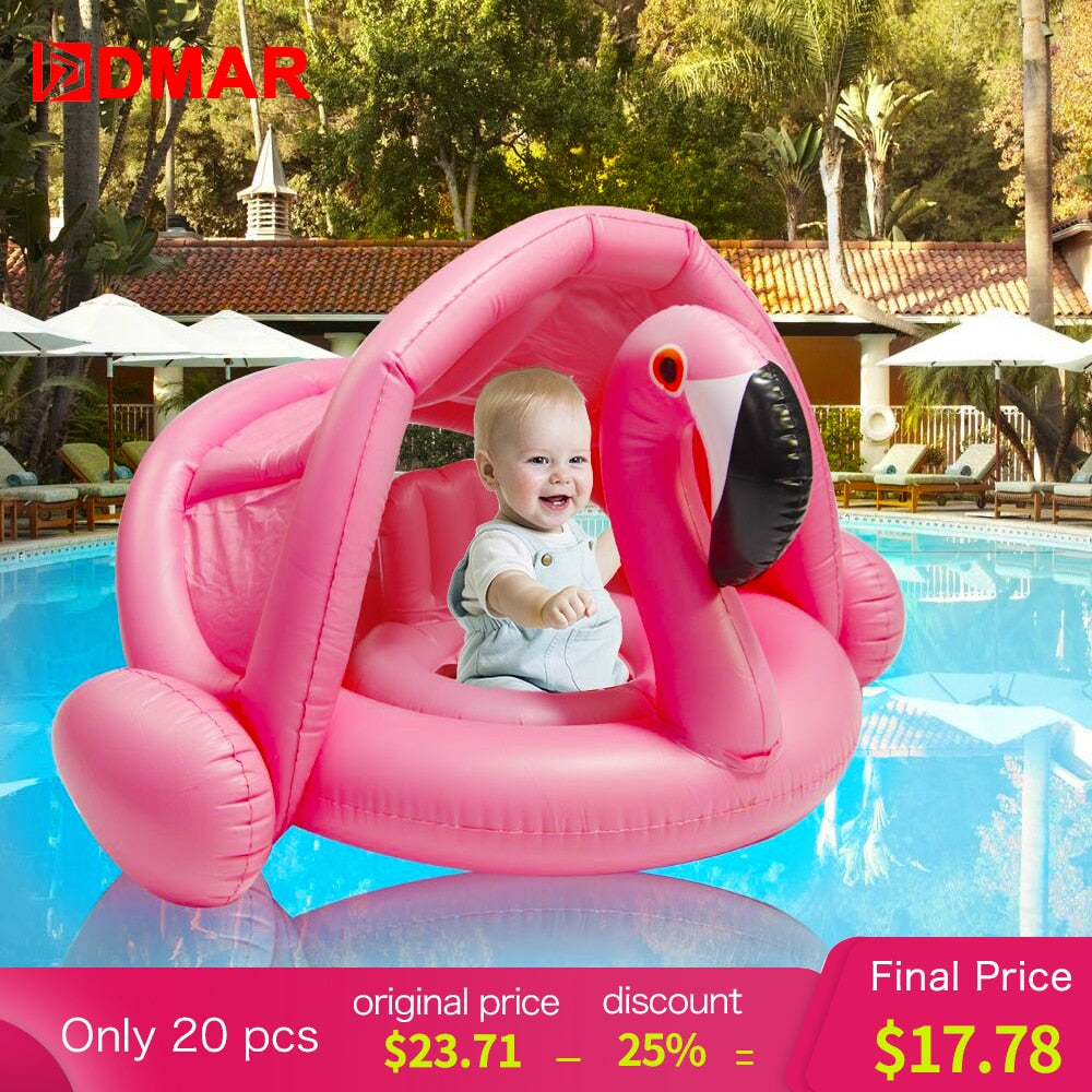 Inflatable Flamingo Swan Pool Float