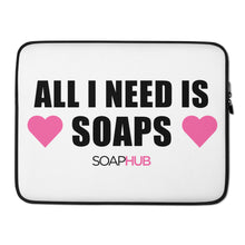 "Load image into Gallery viewer, ""All I Need Is Soaps"" Laptop Sleeve"