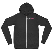 Load image into Gallery viewer, Soap Hub Logo Unisex zip hoodie