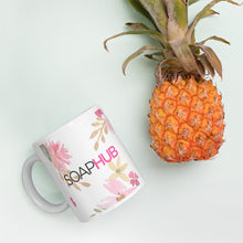 Load image into Gallery viewer, Soap Hub Logo Floral Mug