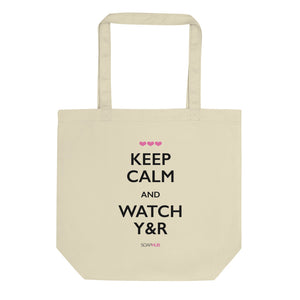 """Keep Calm & Watch Y&R"" Eco Tote Bag"