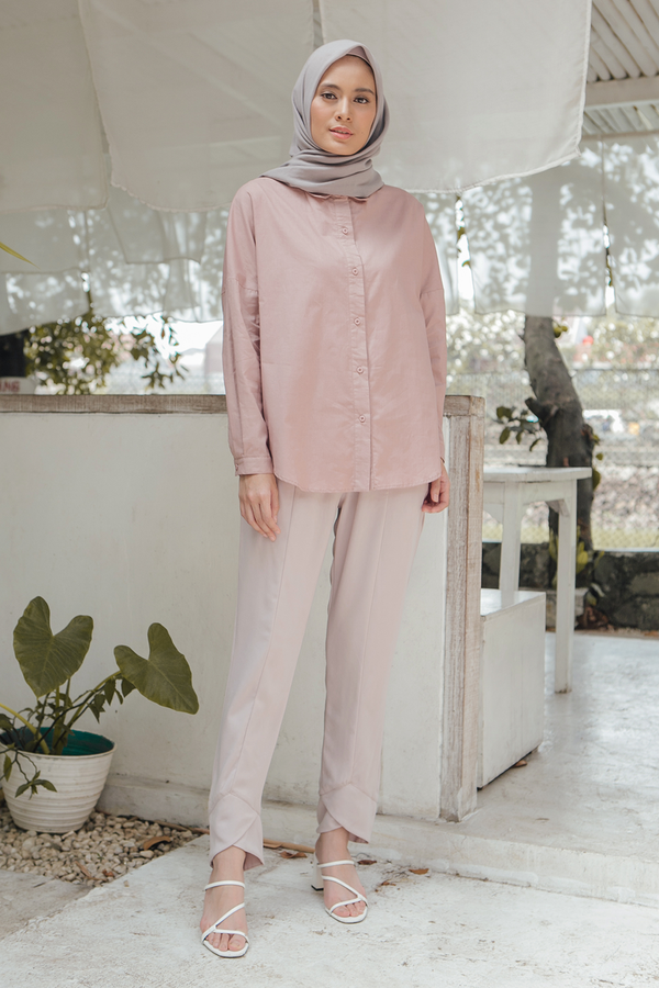 Premium cotton shirt in Blush