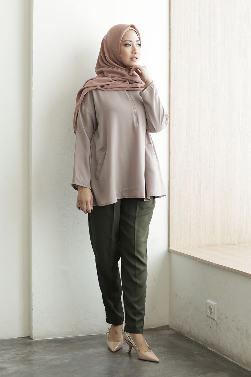 Taupe Basic Top