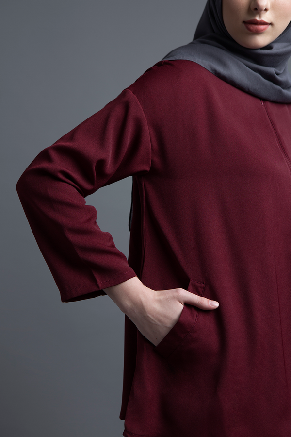 Maroon Basic Top