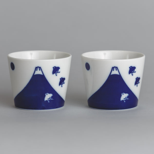 Blue Mountain Sake Cup Set