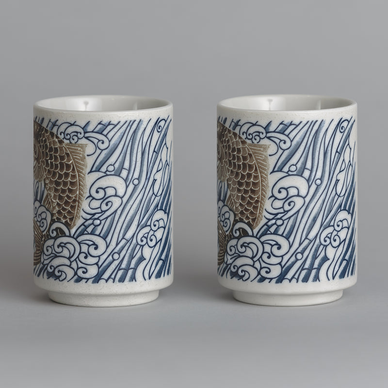 Koi Fish Ceramic Cup Set