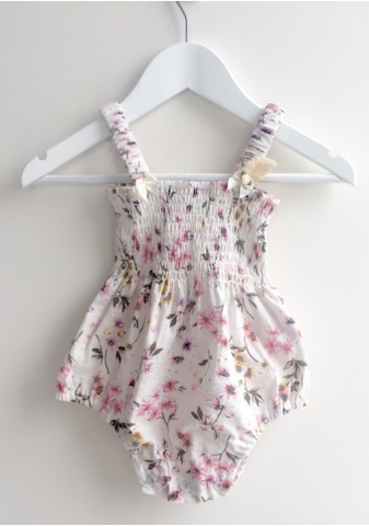 Floral Wonder Shirring Suit
