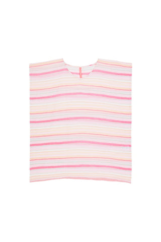 Girls Pink Striped Kaftan