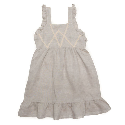 Evelyn Dress Linen Natural