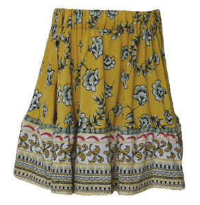 Rayon Mixed Print Skirt
