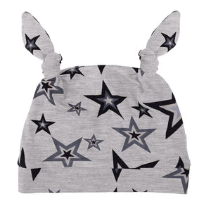 Star Bunny Beanie Light Grey