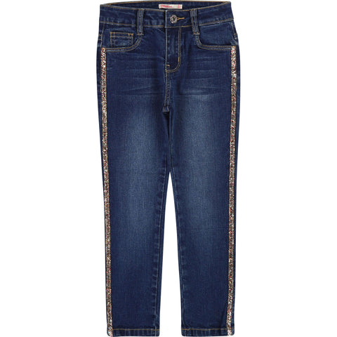 Denim Glitter Jeans Blue