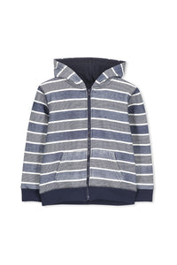 Stripe Fleece Hood