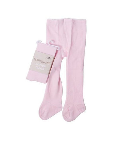 Knitted Cotton Tights - Pink