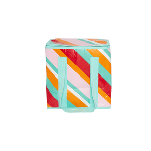 Insulated Tote - Candy Stripes