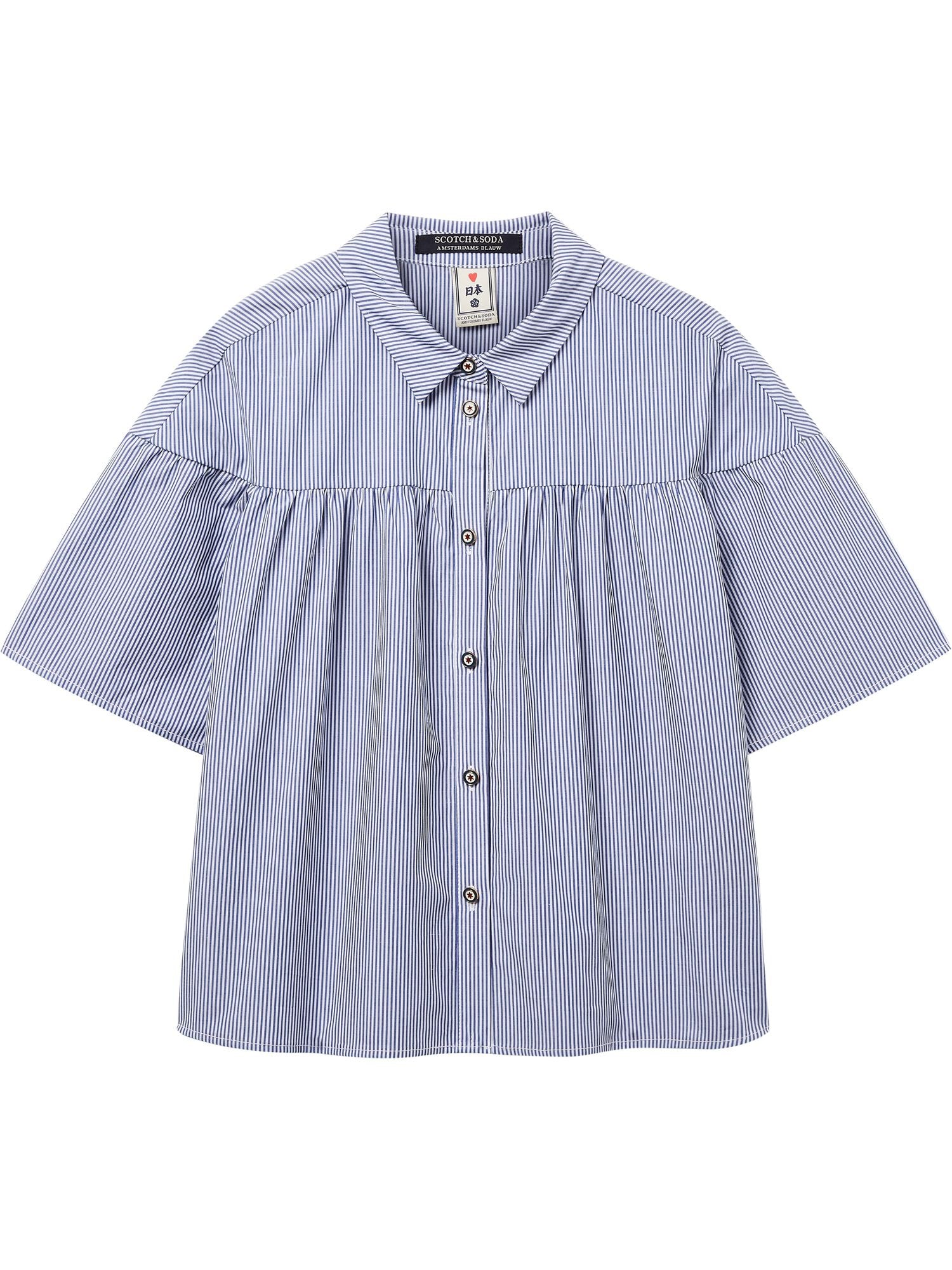 Cotton Shirt with Wide Sleeves