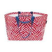 Oversize Tote (The Weekender) - Red Zebra