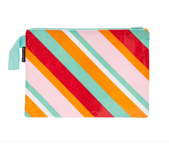 Zip Pouch Large (The Envelope) Candy Stripes
