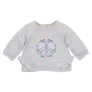 Viola Frill Embroidered Sweatshirt