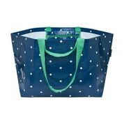 Oversize Tote (The Weekender) - Navy Micro Dot