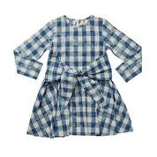 Just for You Dress - Chambray Blue Check