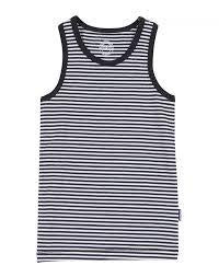 Singlet Navy White Stripe