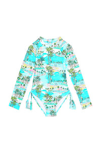 Girls Miami Vice L/S Surf Tank
